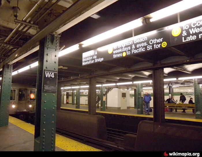 West 4th Street – Washington Square Subway Station (A,B,C,D,E,F,M) (New York City, New York)