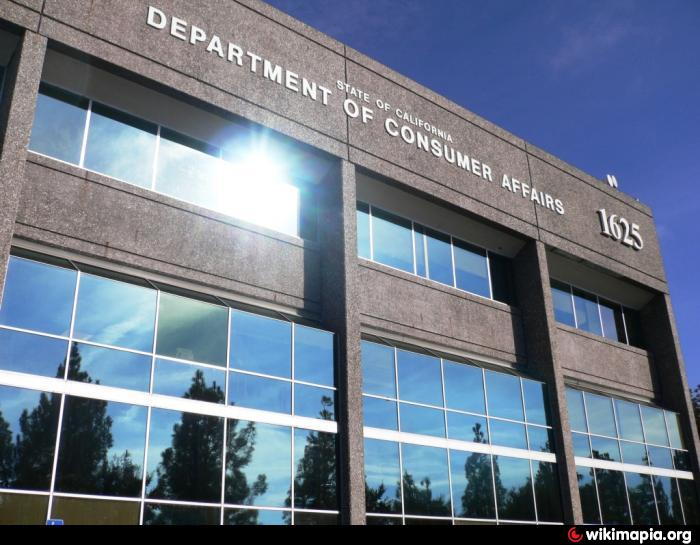 California department of consumer affairs headquarters - Office of the consumer protection board ...