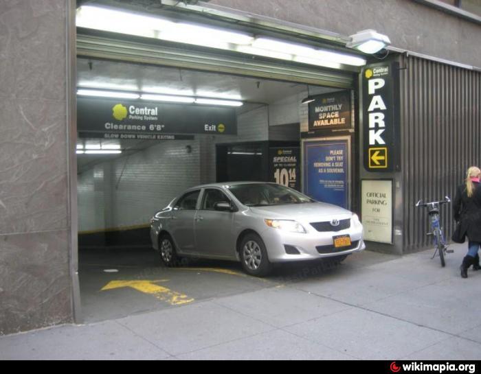 Central parking system underground garage new york for Parking garages new york city