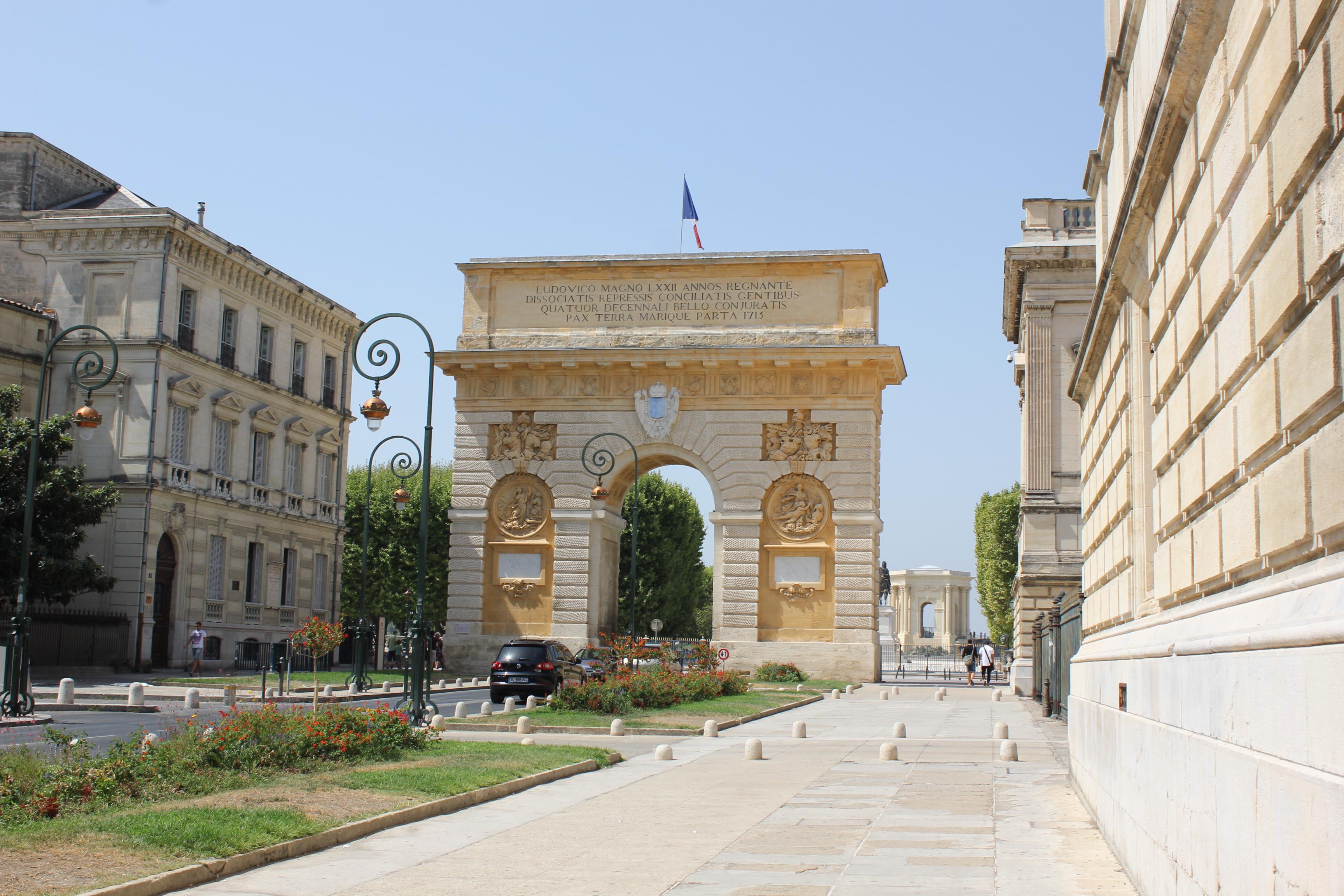 Arc de triomphe peyrou montpellier monument - Arc de triomphe montpellier ...