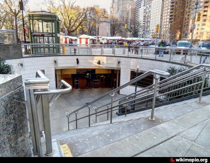59th Street Columbus Circle Subway Station Entrance 12AB