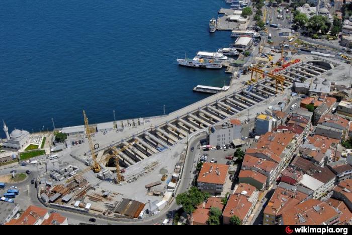 Marmaray Station on the Asian side of Istanbul - Üsküdar (District)