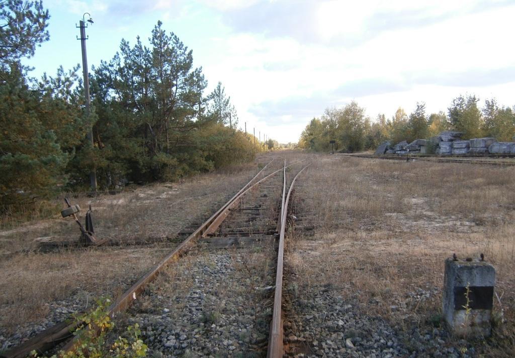 Автор.  Станция Бровары.  Входная стрелка со стороны Броваров ведомственной линии на ТЭЦ-6 Дата: 2.10.2011.