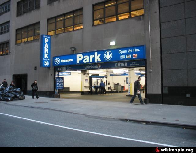 Champion parking underground garage new york city new for Parking garages new york city