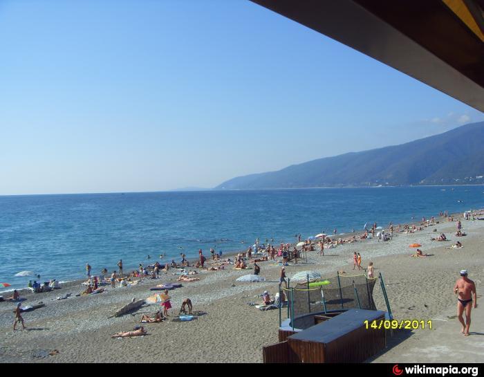 Абхазия центральный пляж фото