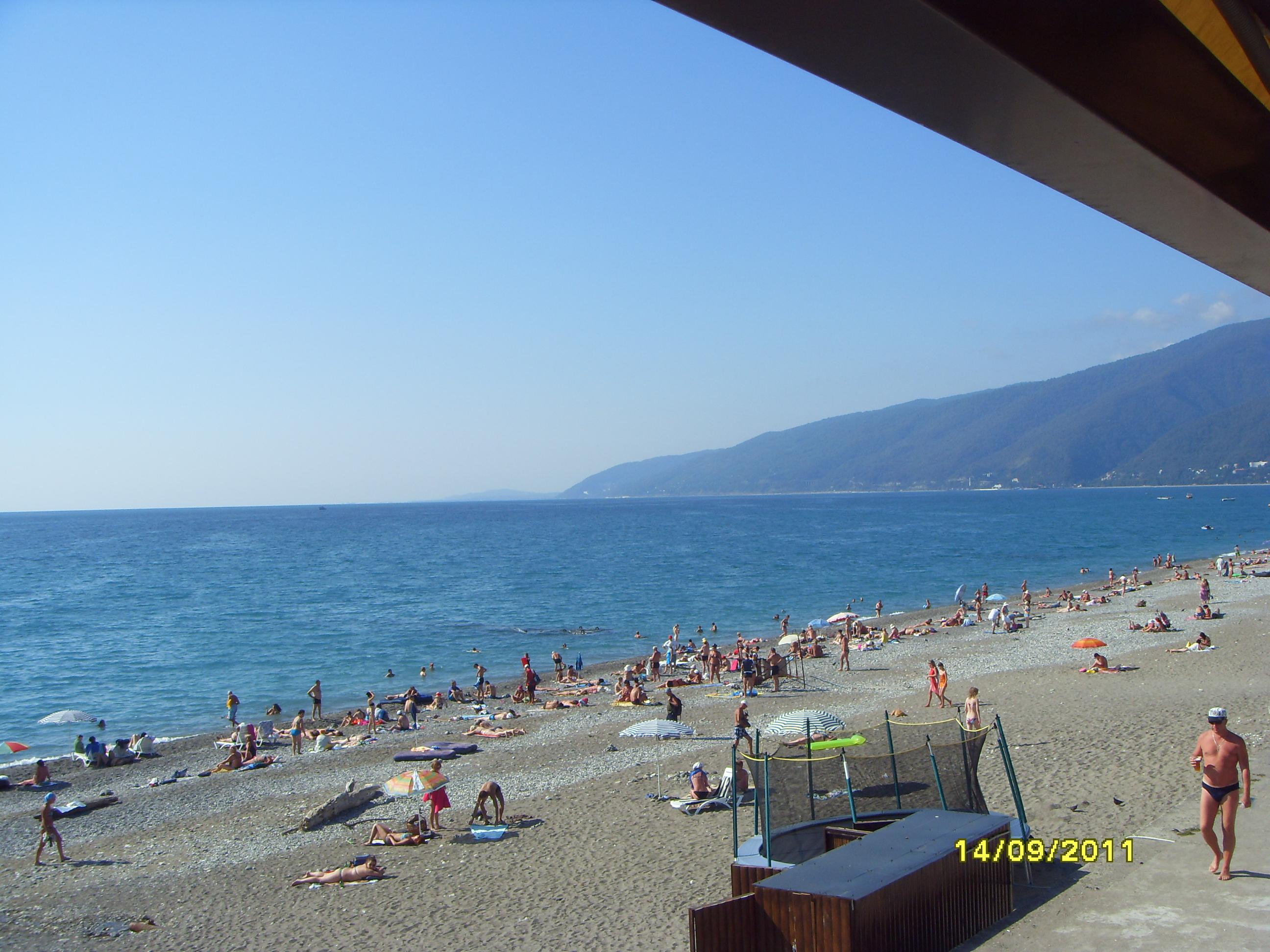Гагра новые фото пляж