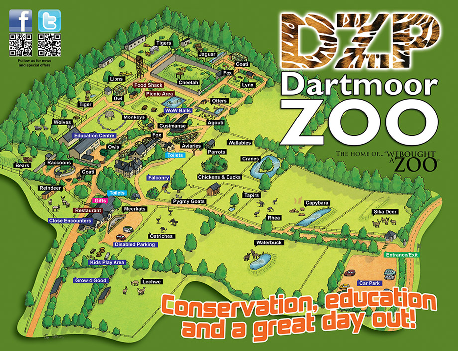 Zoo Map Template Detail at The Zoo Map And