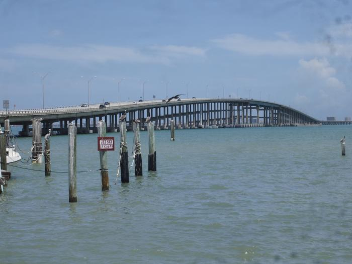 Queen isabella causeway for South padre island fishing pier