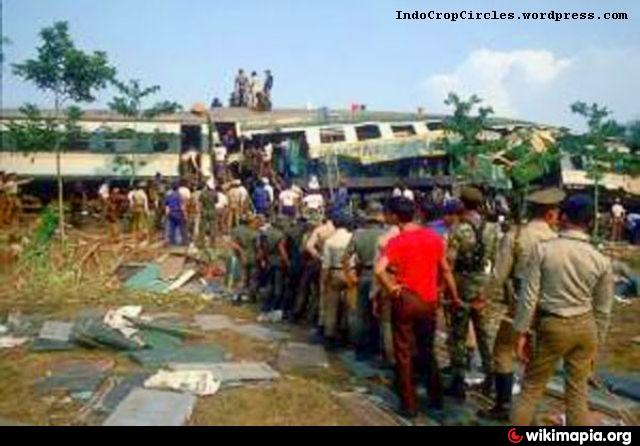Bintaro train crash site (Monday, October 19th, 1987