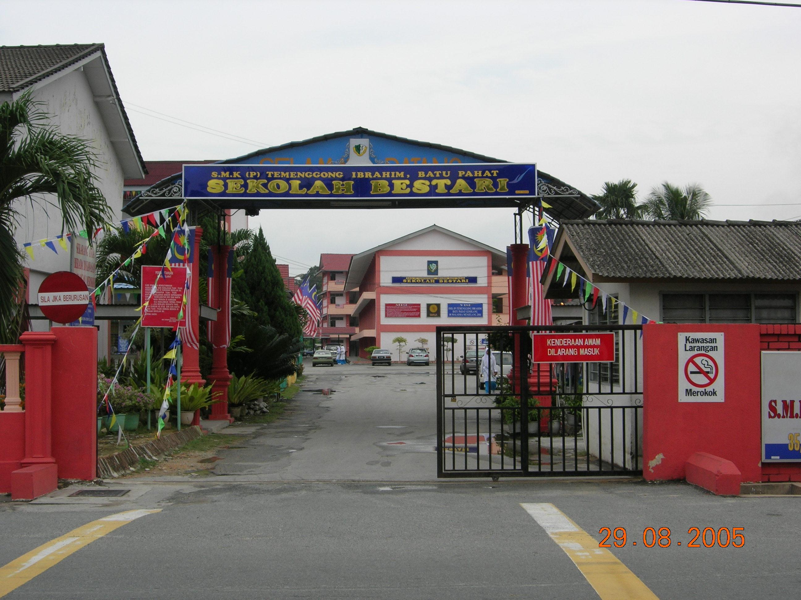 Image result for smk(p) temenggong ibrahim batu pahat johor