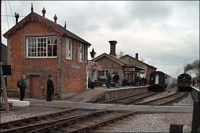 a scene at busy railway station Pontrilas railway station was a former station which served the herefordshire villages of pontrilas and ewyas harold, and was a little distance from grosmont, in monmouthshire, wales it was located on the welsh marches line between hereford and abergavenny.