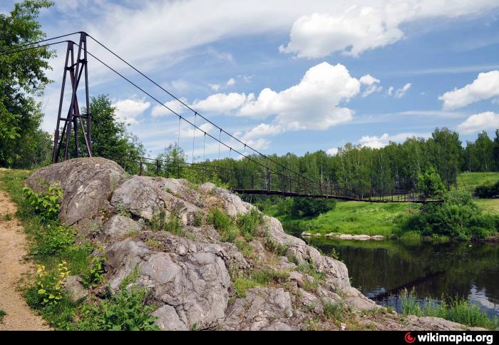 Подвесной мост через реку 140