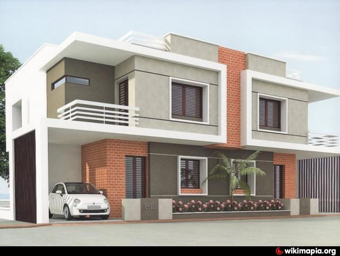 Design Of Compound Wall Of Bungalow : Whispering woods duplex vadodara