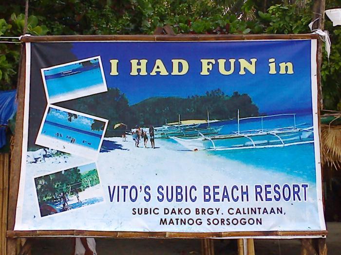 Calintaan Philippines  city images : Vito's Subic Beach Resort Calintaan, Matnog, Sorsogon