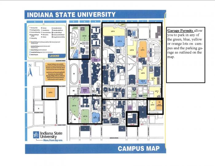indiana state campus map Indiana State University Terre Haute Indiana indiana state campus map