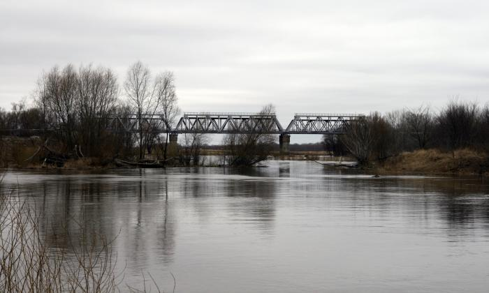рыбалка у железнодорожного моста