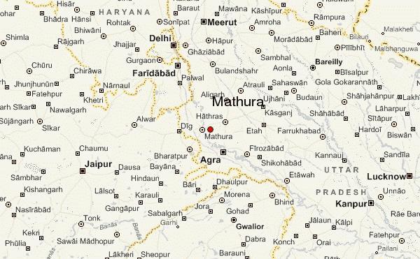Mathura India  city photos : city , district , draw only border
