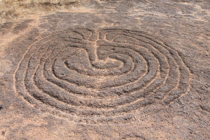 Ancient rock carvings of usgalimal