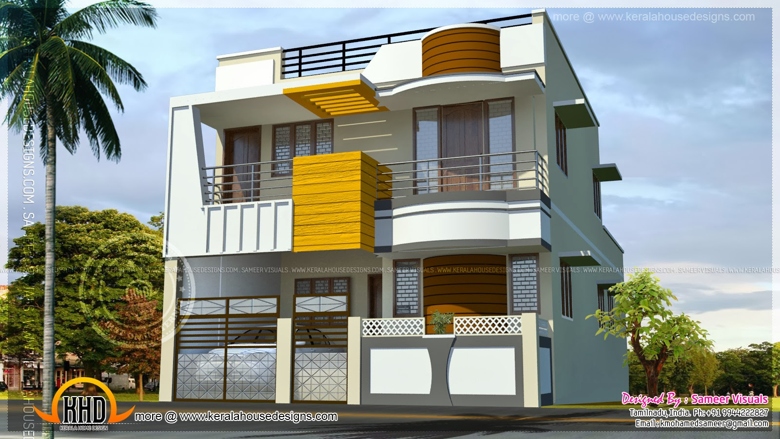 Adorable 10 Indian House Designs Double Floor Decorating Design