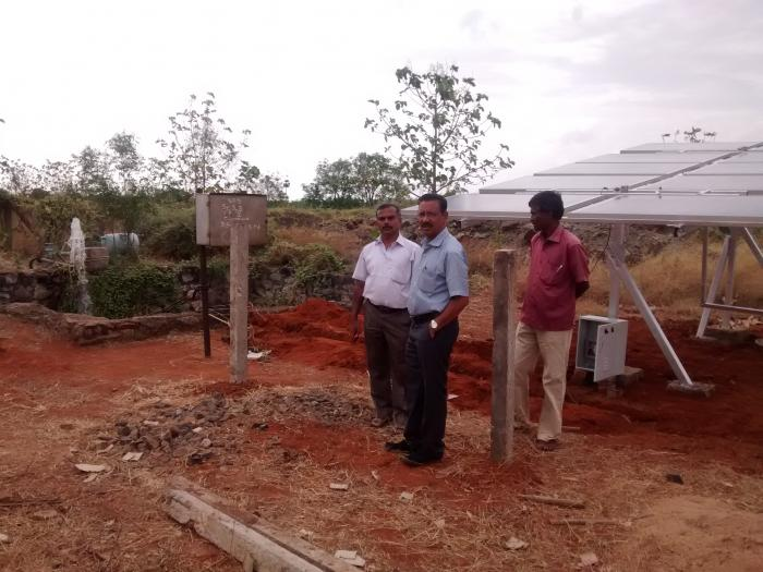 Solar Powered Pumping System With Tracking Facility Open Well