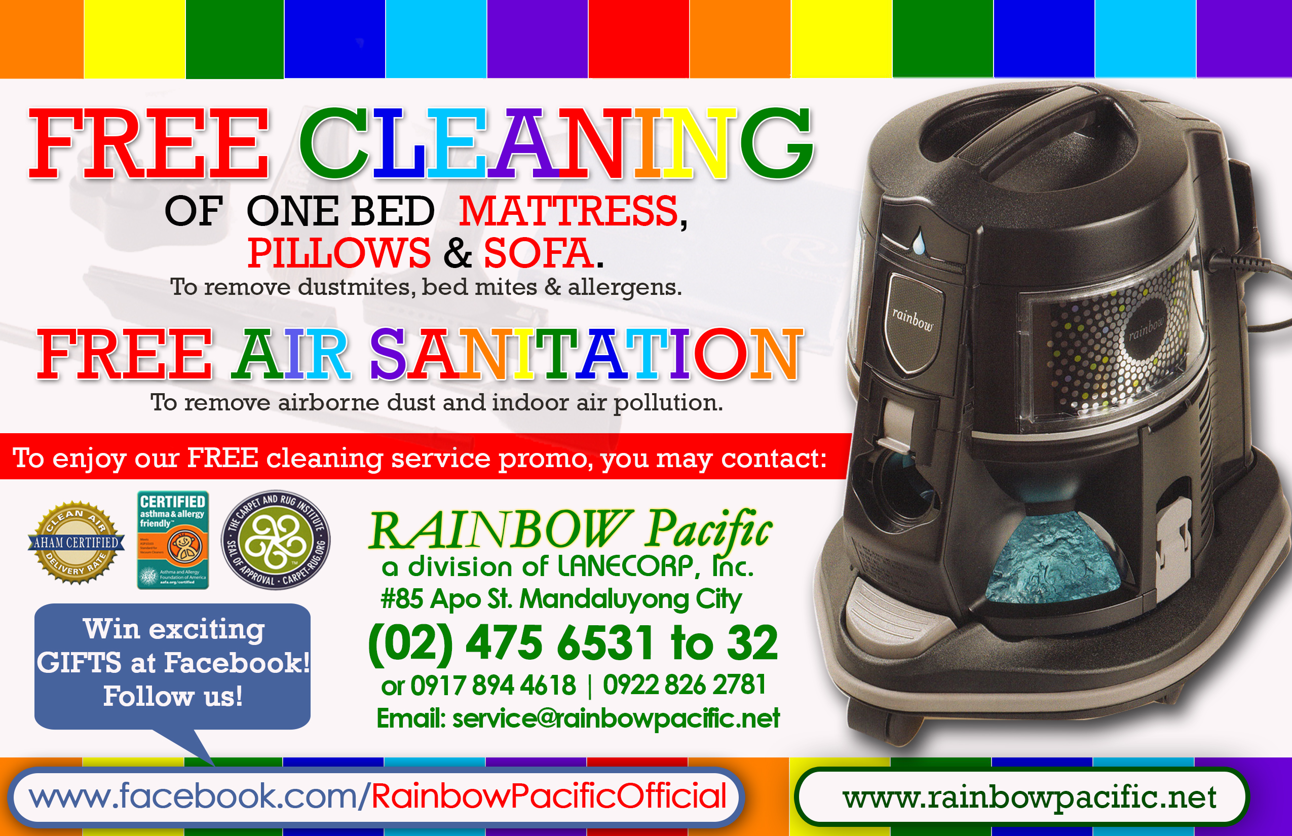 rainbow pacific philippines mandaluyong rainbow aromatizer t