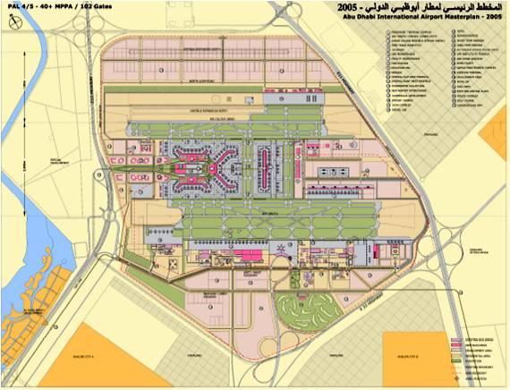 AUH Midfield Terminal Under Construction Abu Dhabi