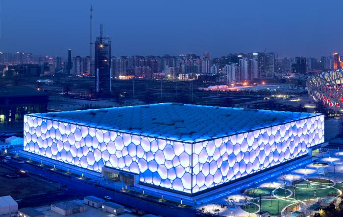 Beijing national aquatics centre water cube beijing for Beijing swimming pool olympics