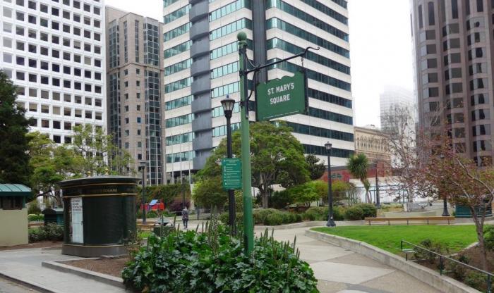 St Mary S Square Park San Francisco California
