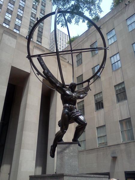 atlas statue new york city new york. Black Bedroom Furniture Sets. Home Design Ideas