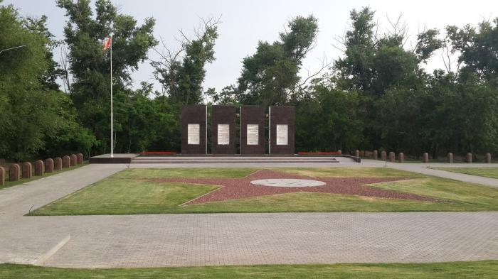 Мемориальный одиночный комплекс с крестом Новочеркасск Эконом памятник Плечики Асбест