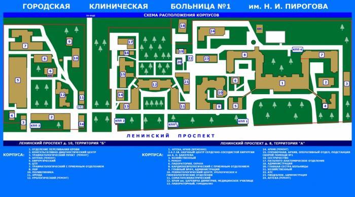 1-я городская клиническая больница минск схема корпусов