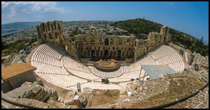 Αποτέλεσμα εικόνας για history Odeon Herodes Atticus