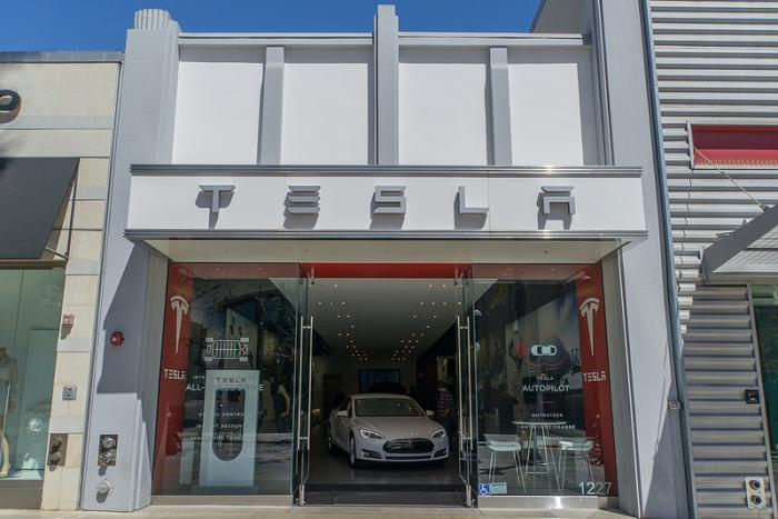 tesla motors santa monica california. Black Bedroom Furniture Sets. Home Design Ideas