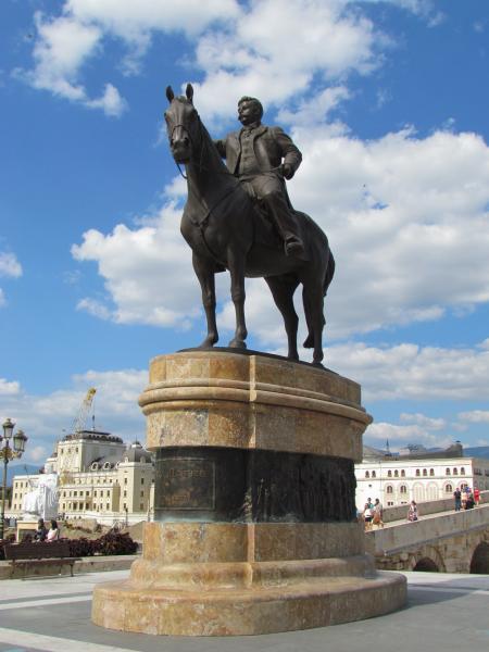 Monument Of Goce Delchev Skopje