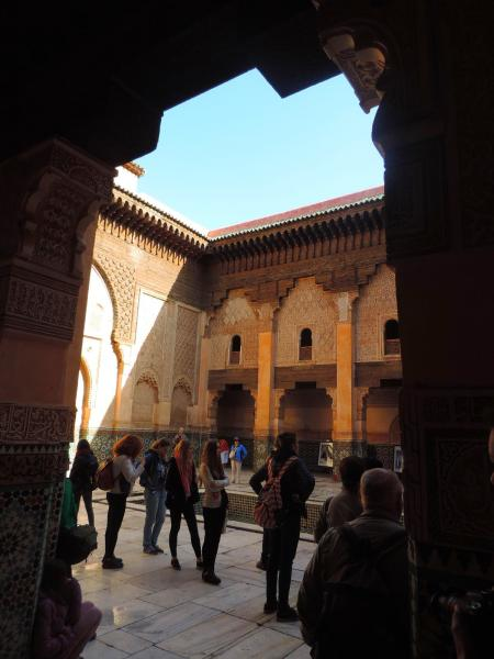 Medersa ben youssef marrakech for Architecture andalouse