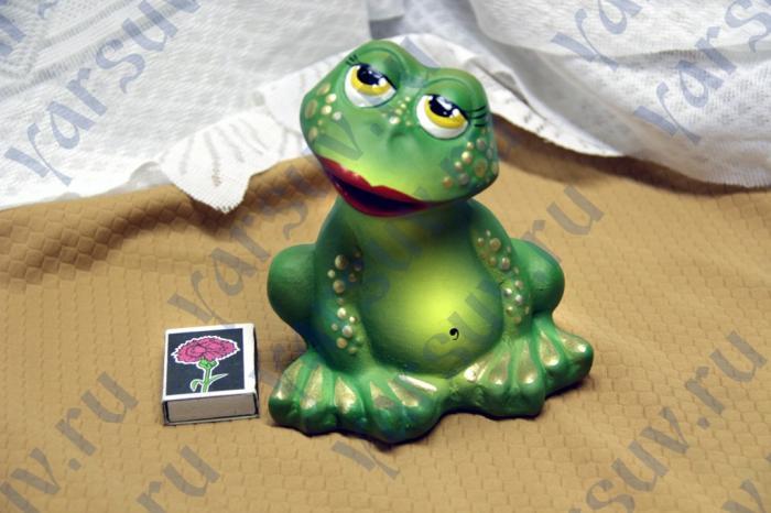 Копилка-лягушка из папье-маше своими руками 71