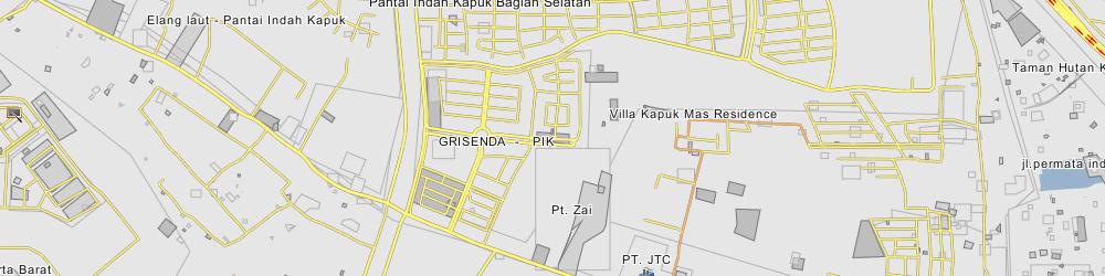 Pantai Indah Kapuk Map Pantai Indah Kapuk