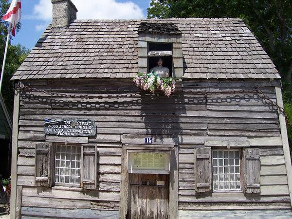 Oldest Wooden Schoolhouse in United States - Saint Augustine