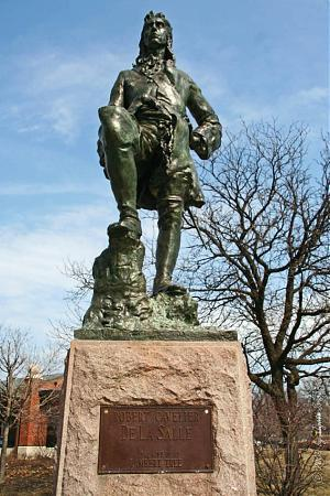 North Park Lincoln >> Rene-Robert LaSalle Monument - Chicago, Illinois