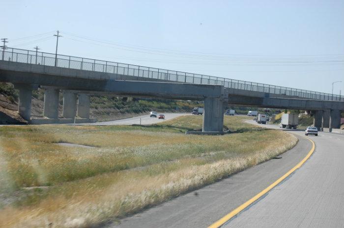 Railroad Overpass Structure - Livingston, California