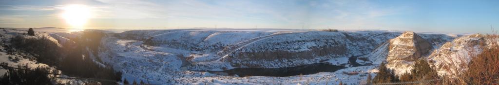 Site of failed Teton Dam