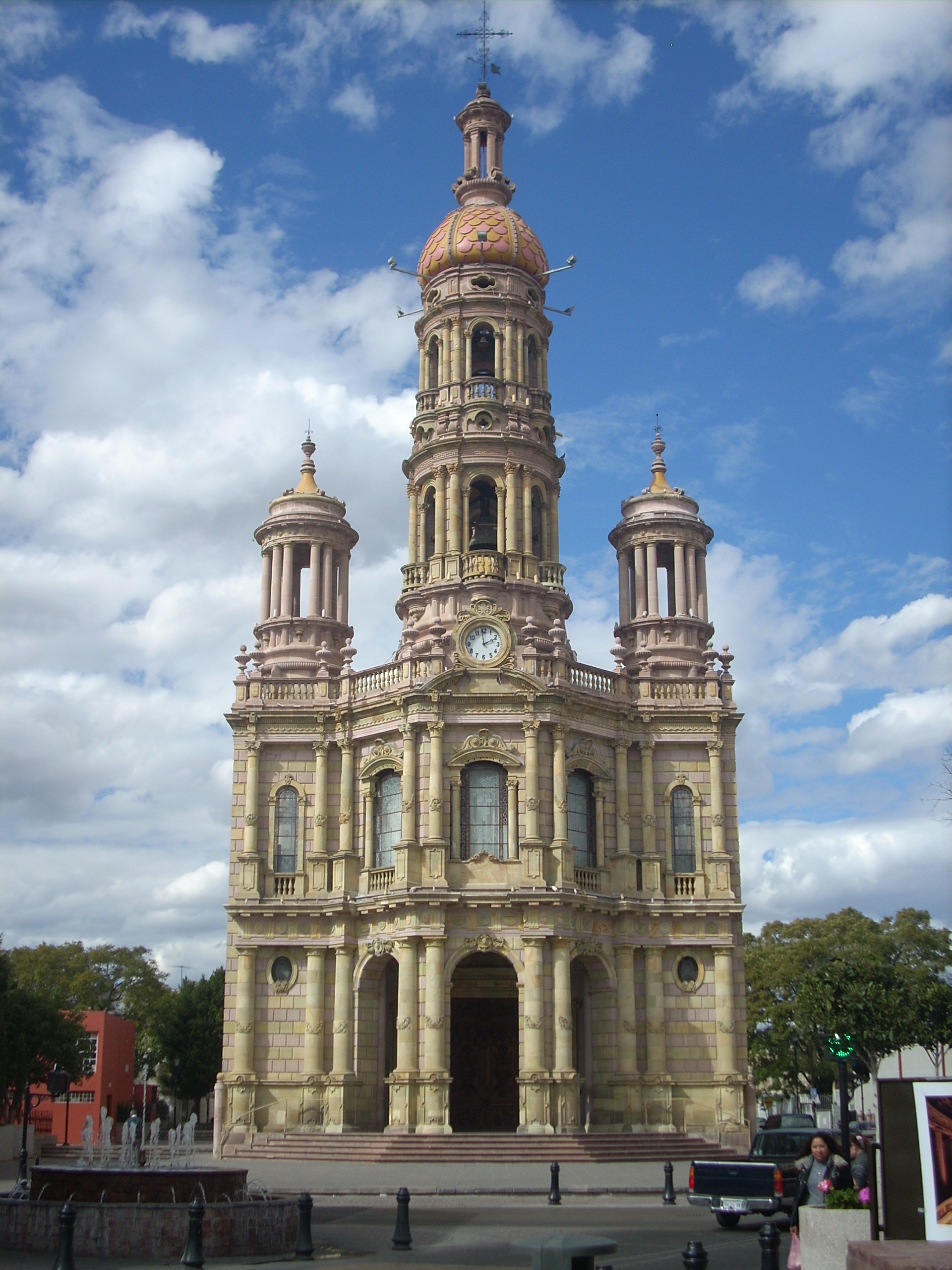 fachada del Templo de San Antonio, Aguascalientes