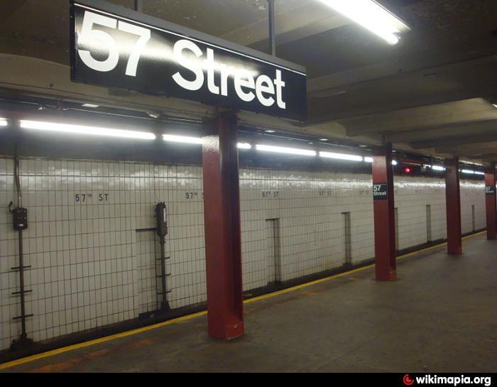 57th Street 7th Ave Subway Station NQR