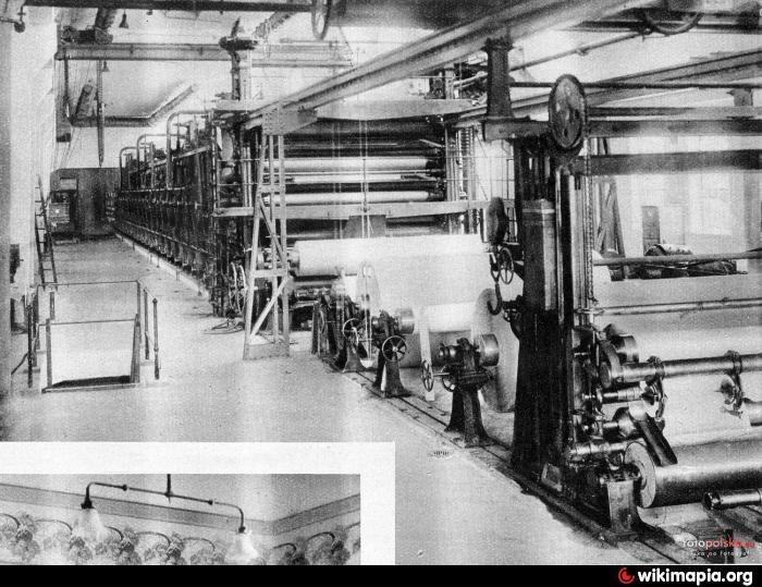 Myszków 120 lat temu. Maszyna papiernicza