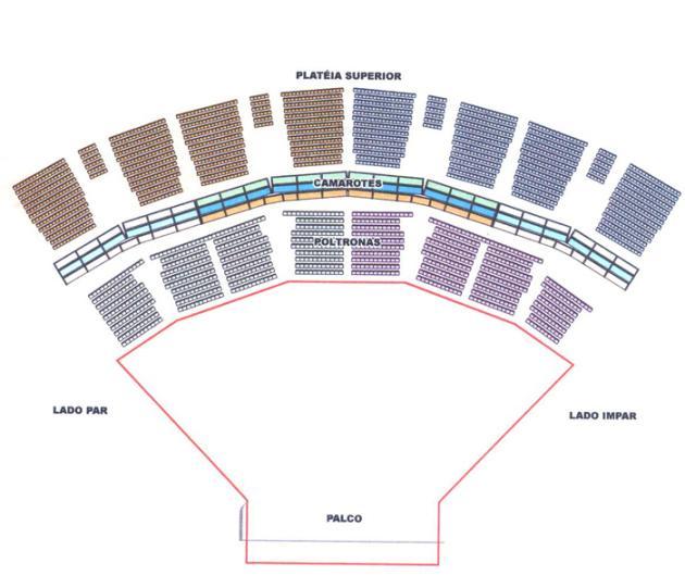 mapa assentos credicard hall thriller
